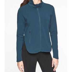 Athleta Interval Jacket Med 291937 Coastal Blue